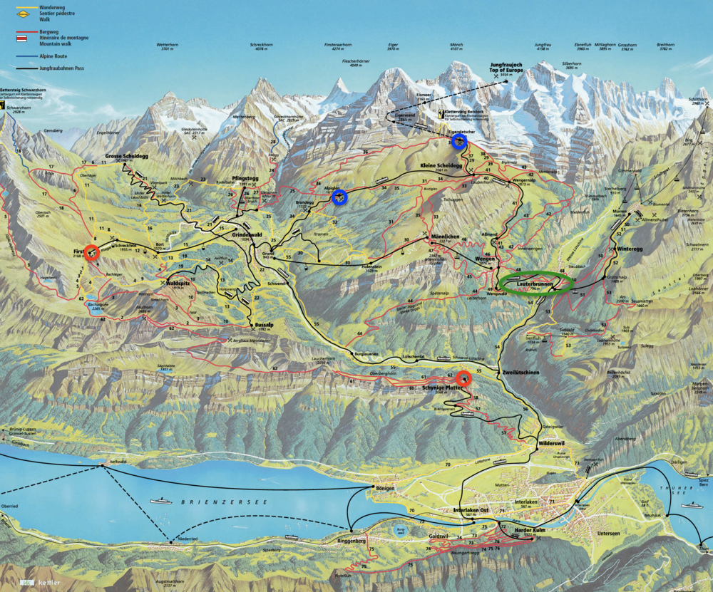 Hiking the Best of Interlaken Switzerland for Cheap Day One