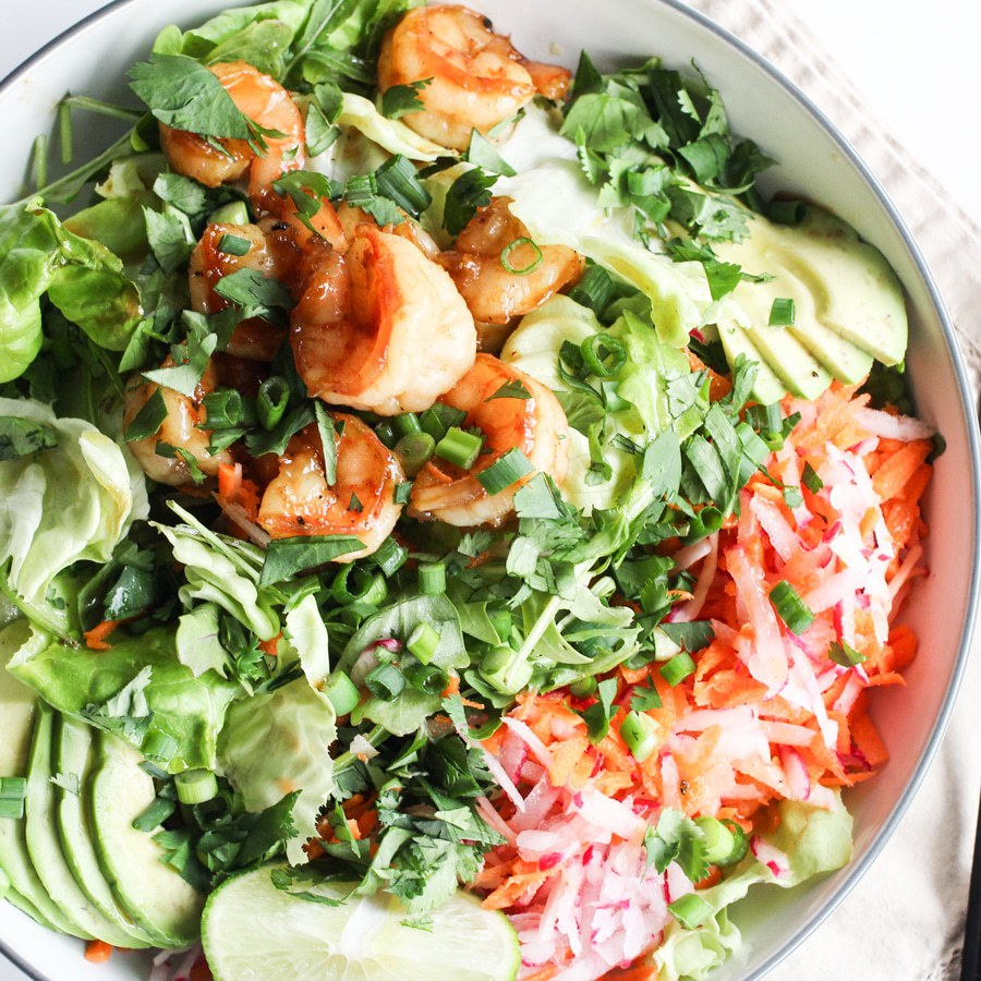 Ginger Shrimp Bowl - Recipe by: Rally Pure Omit honey if Whole30