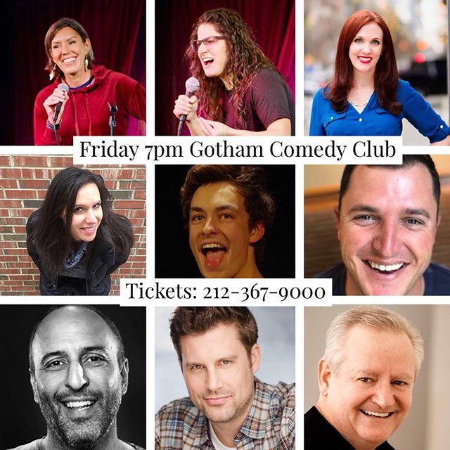 #fridaynight #standupcomedy  at @gothamcomedy with these fine folks plus more! #nyc #nightlife