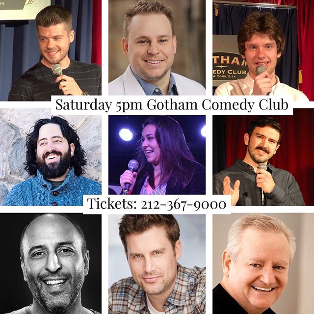 #saturdaynight #standupcomedy  at @gothamcomedy with these #funny folks plus more! #nyc #nightlife