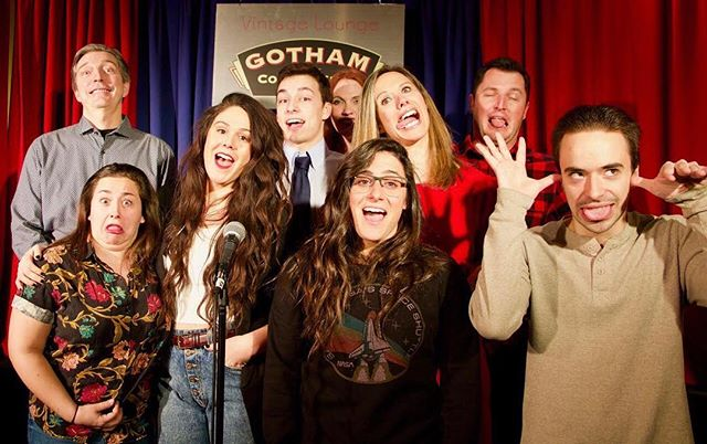 Wanna have this much fun? Take a workshop! Call 212-279-6980 or click onto our website in our bio! Thanks to @gothamcomedy for always being wonderful hosts! #standupcomedy #nyc #comedy #linkinbio 📸: @davidchrem