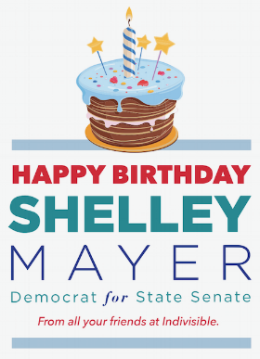 "If you have trouble seeing the form or contributing click  here .  Alternatively, checks to ""Shelley Mayer for Senate"" can be sent to:  Shelley Mayer for Senate HQ 437 Ward Avenue Mamaroneck, NY 10543  Please be sure to note that it is for the ""Birthday Fundraiser"""