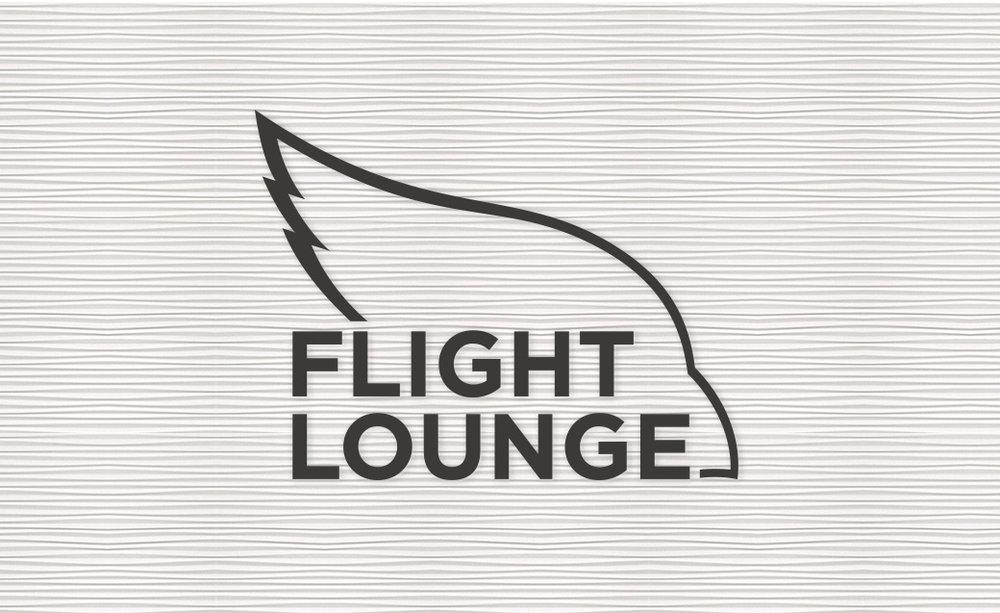 Flight Lounge Logo Design on wall