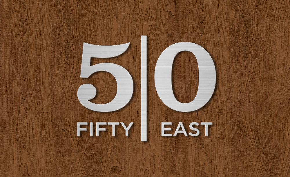 Fifty East Club Logo Design