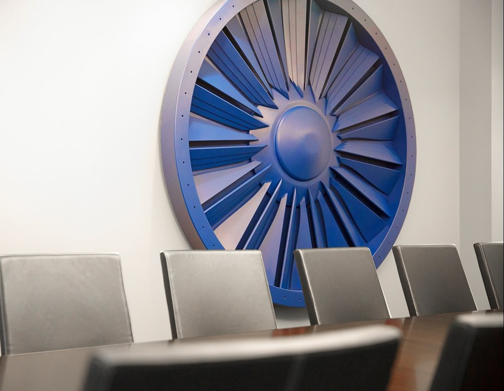 Avair conference room wall decor