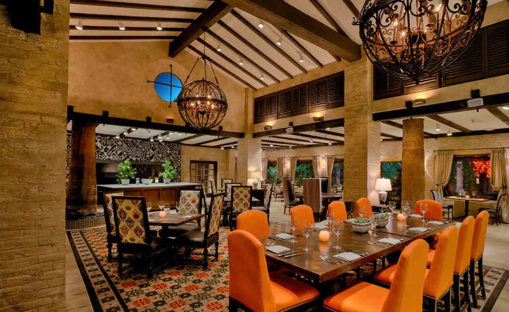Royal palms dining room interior design