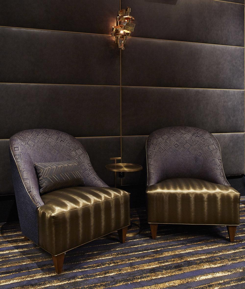 Harkins Camelview custom furniture and lighting
