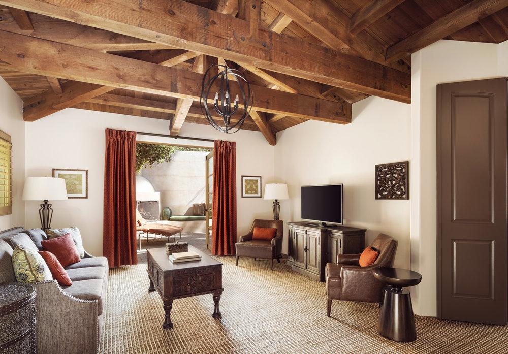 Villa living room interior design and architecture, custom lighting and furniture