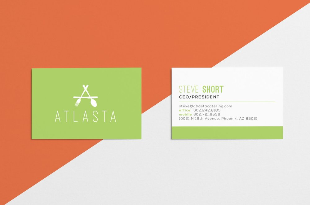 Bar Napkin Productions Atlasta Catering Branding Business Cards