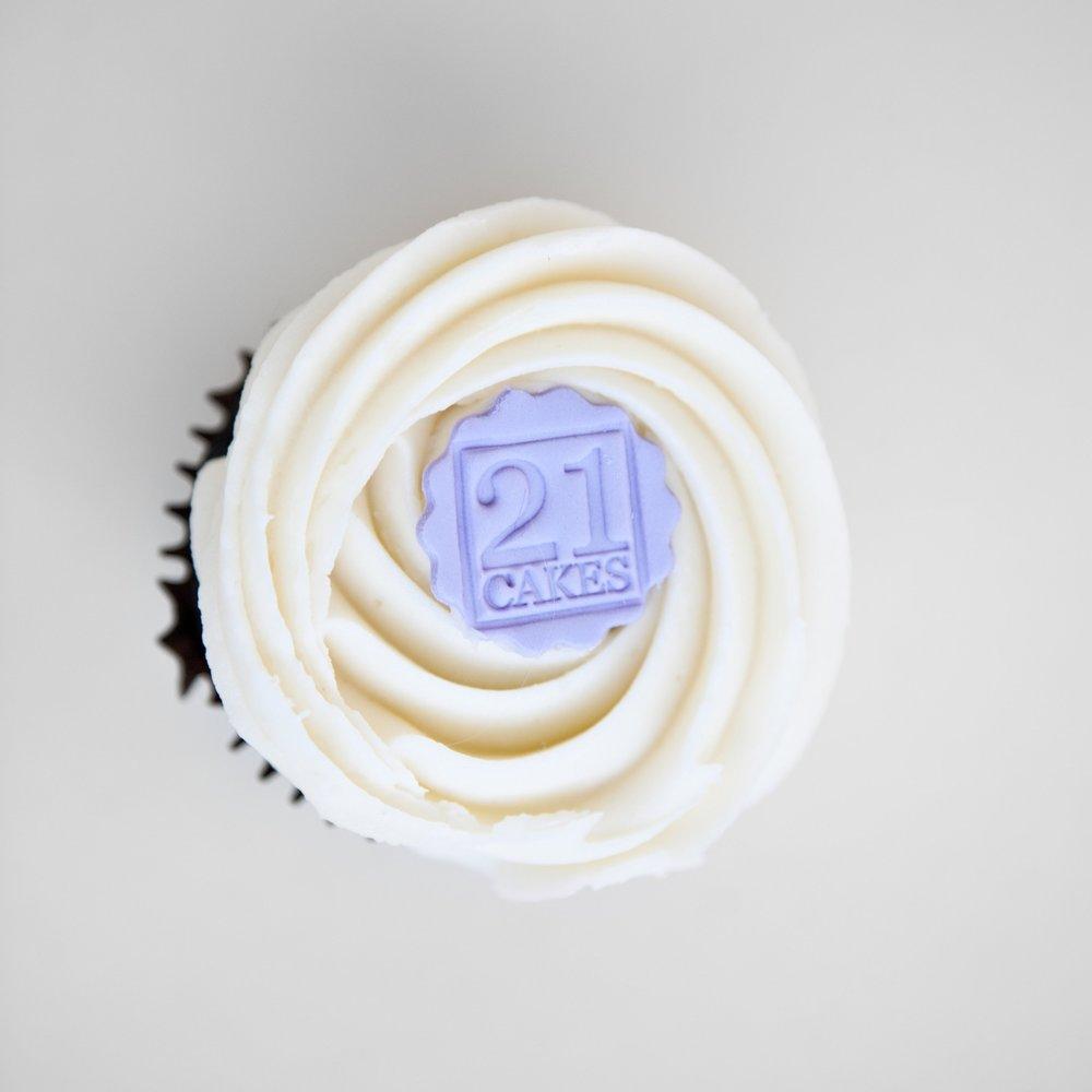 Bar Napkin Productions 21 Cakes Branding Cupcake