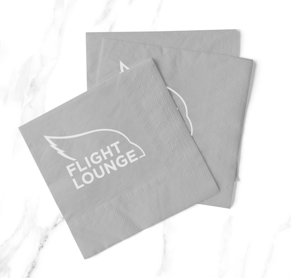 Bar Napkin Productions Arizona Cardinals Flight Lounge Branding Napkins