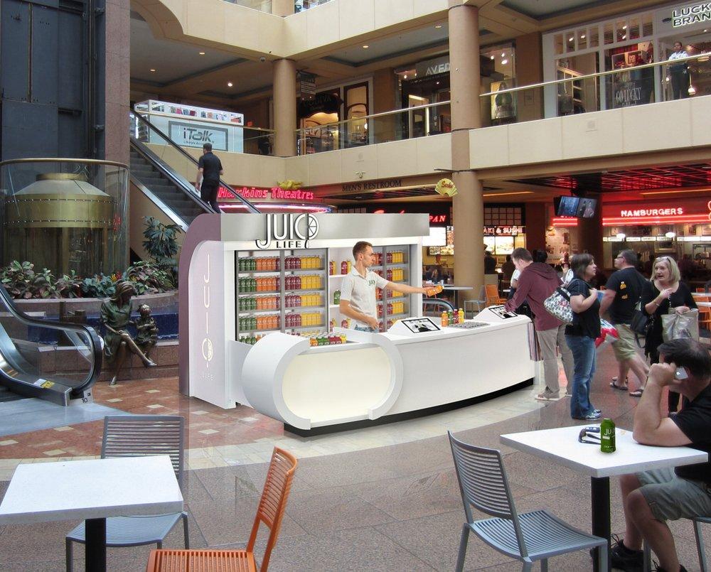 Bar Napkin Productions Juic'd Life Kiosk Rendering