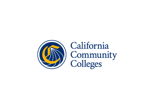 Graphic showing the vertical (stacked) California Community Colleges logo