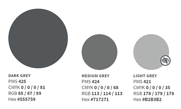 Grey color palette illustration
