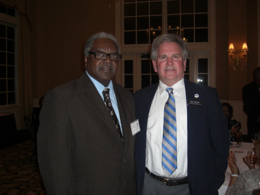 Franklin Thurman, Democratic Chair for Columbus County and John at the NC 7th Congressional Dinner