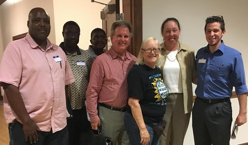 Democratic leaders at the Hampstead Annex