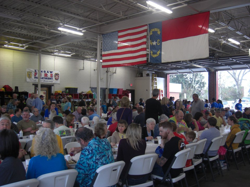 Blueberry Festival Pancake Breakfast was packed this year, 2018