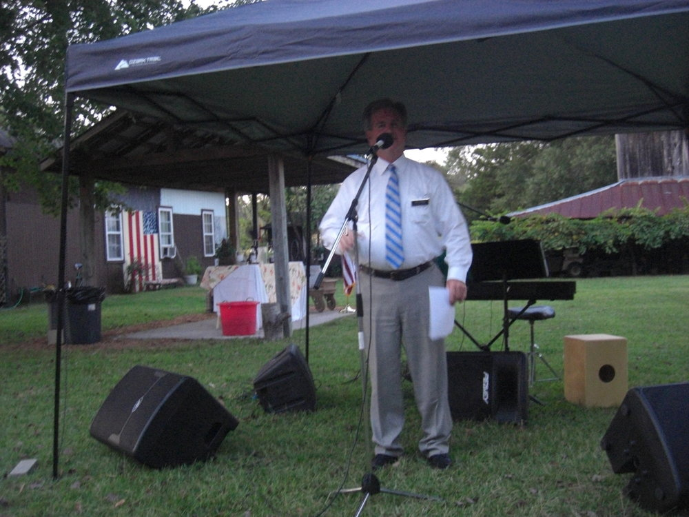 John accouncing his candidacy for NC House District 16 at the PCDP Garden Gala, 2017