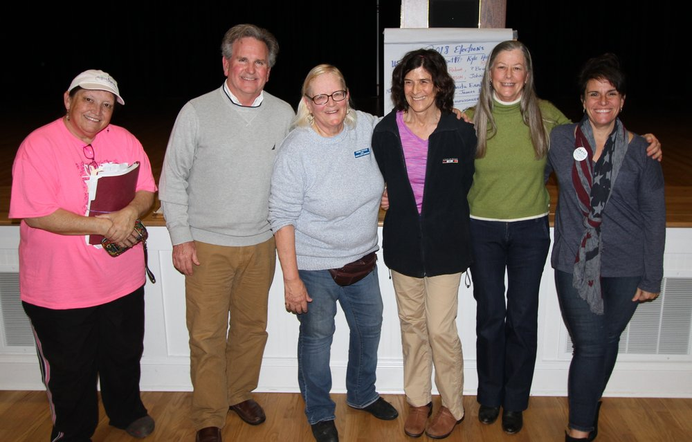 PCDP Precicnt Chairs, Officers and John at the Hampstead Annex