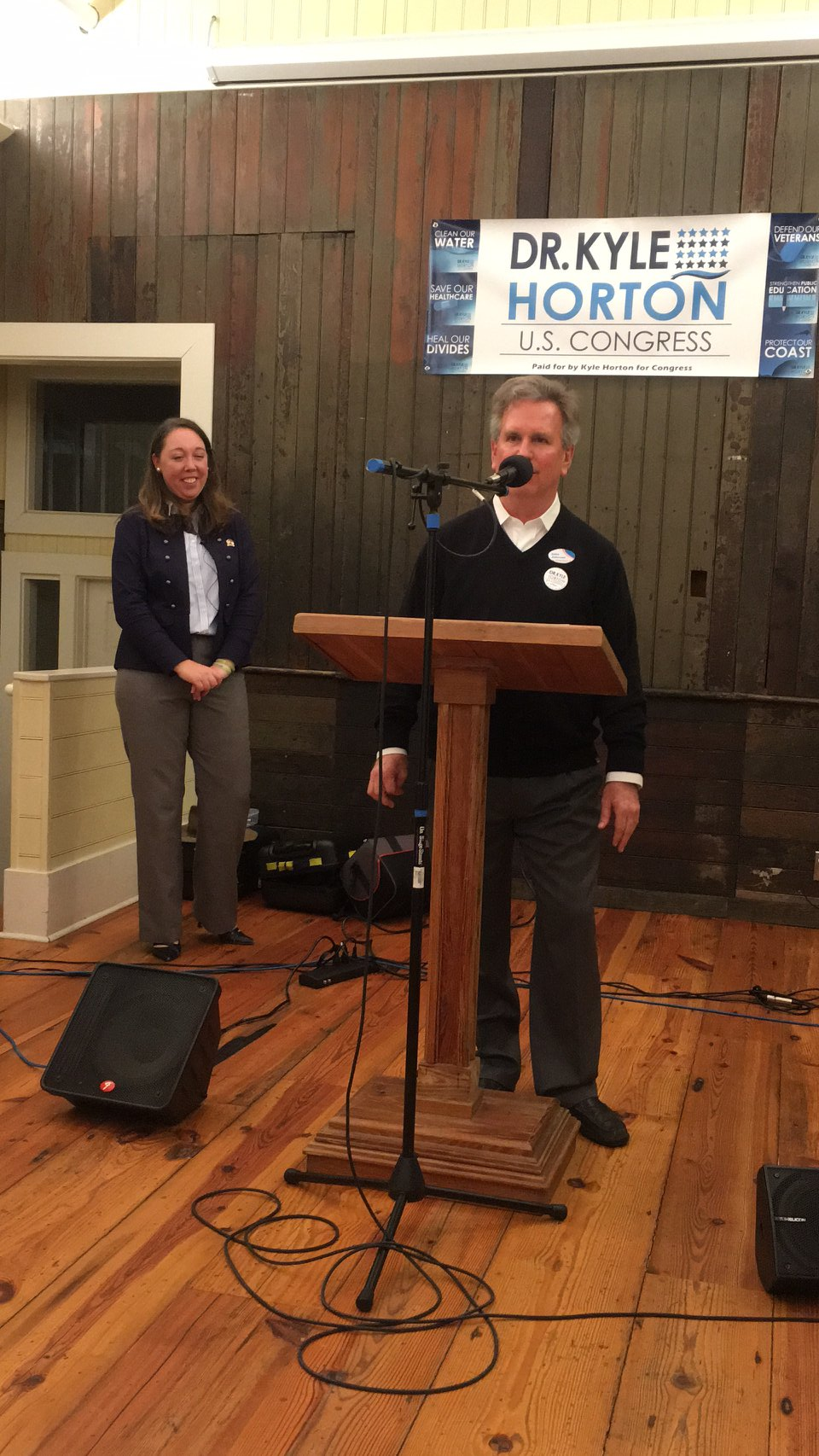 John had the huge honor in introducing Dr. Kyle Horton, candidate for 7th Congressional District at the Burgaw Depot, 2017