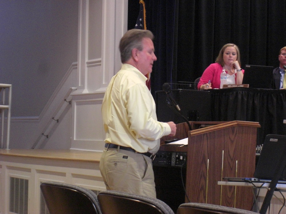 John speaking to Pender County BOC about the economic effects of off-shore drilling