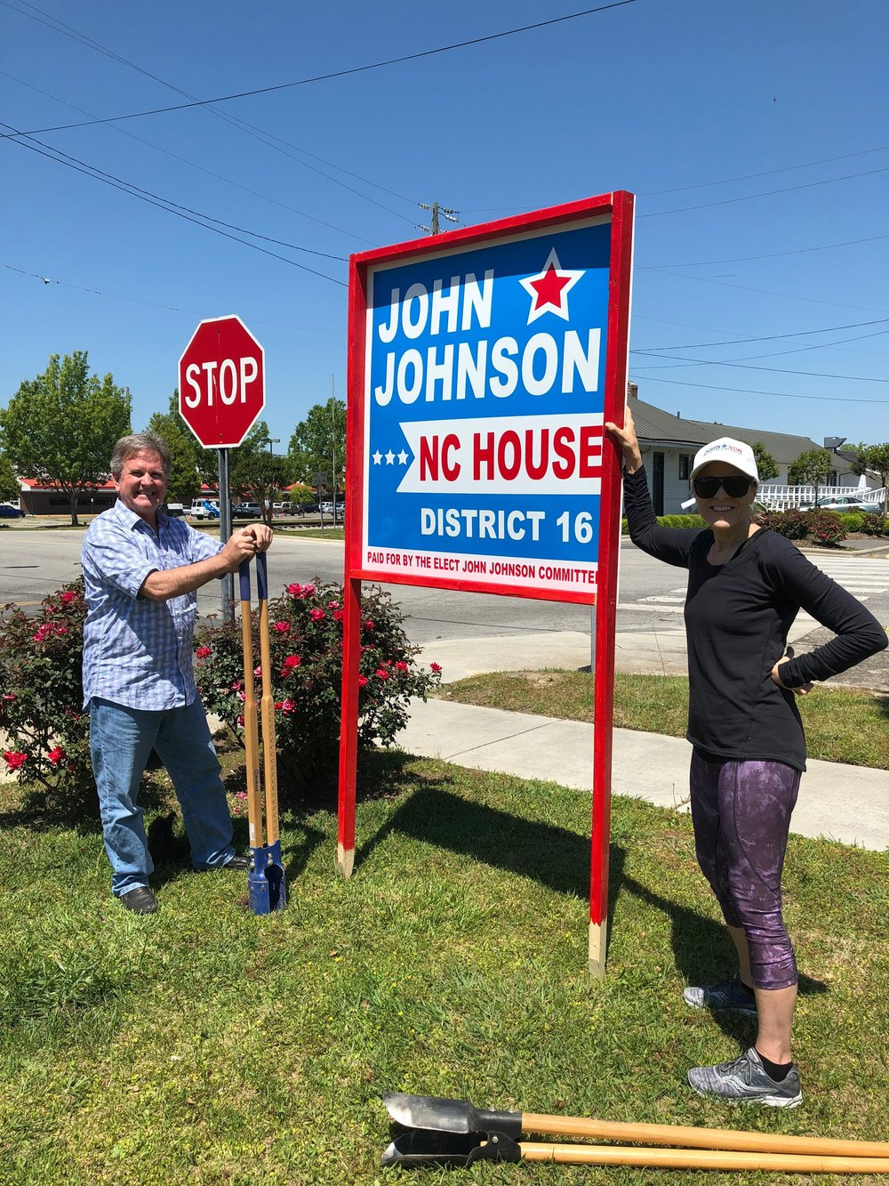 A big thanks to Liz Piacenza with the campaign signs