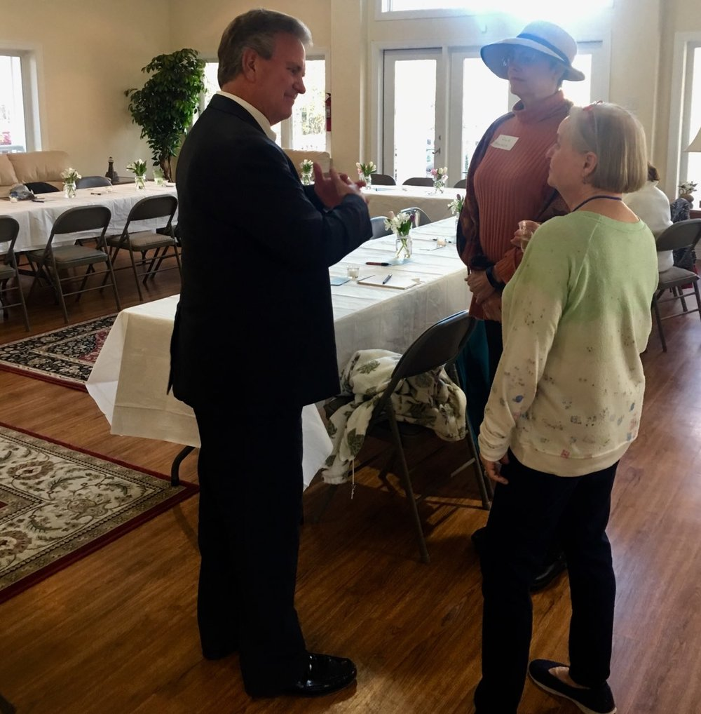 Democratic Women of Pender County hosted John at Pelican Reef
