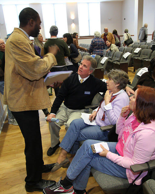 Attentive at the Pender County Democratic Convention, Hampstead Annex