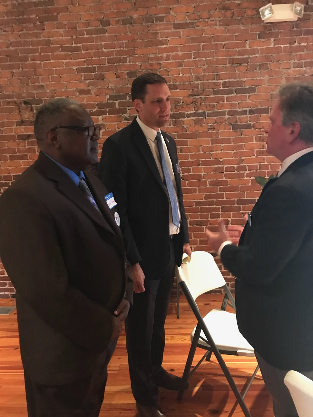 Graig Meyer, NC House District 50 and Franklin Thurman attended the fundraiser at the Vineland Station