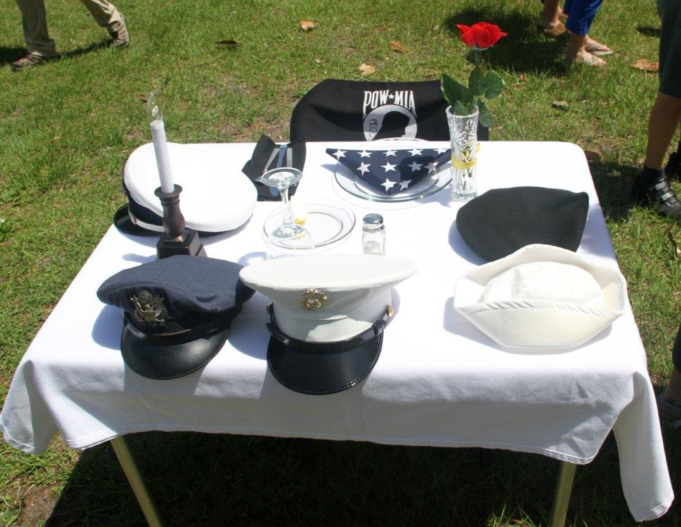 The Fallen Soldier table and everything on it has a meaning.