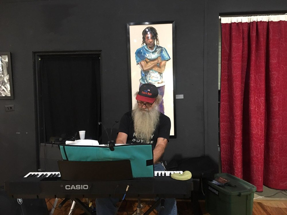 Woody Dobson of Hardwood Sound Works entertained us at the Whiteville Arts Council