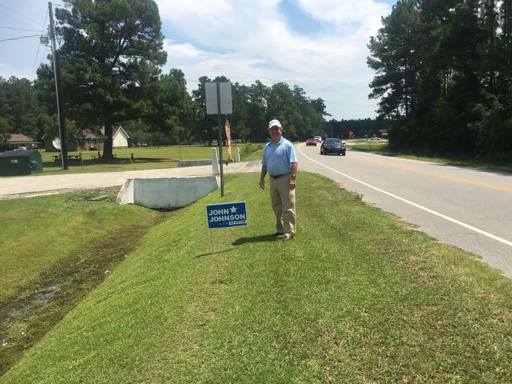 Another yard sign goes up after meeting and speaking with John