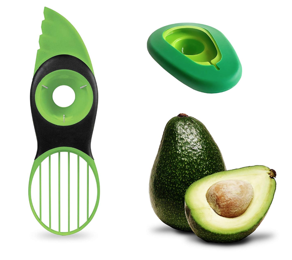 4.The avocado Slicer - How do you easily remove the pip from an avocado and get the delicious fruit out of the skin? With an Avocado Slicer of course! This one even comes with a free avocado hugger… whatever that means!