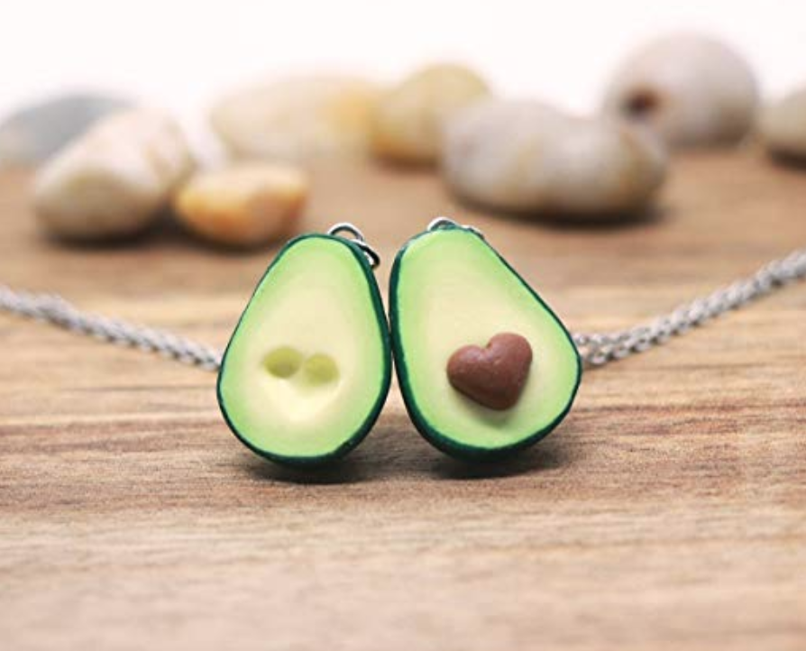 2. Avocado Necklace - Solidify your friendship with this stylish piece. You can even personalise it, making it even more special.