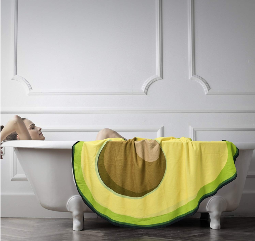 10. The ultimate bath towel - After unwinding in a hot bath, wrap this giant avocado towel around you to feel warm and cosy. All the time dreaming about your next avocado.