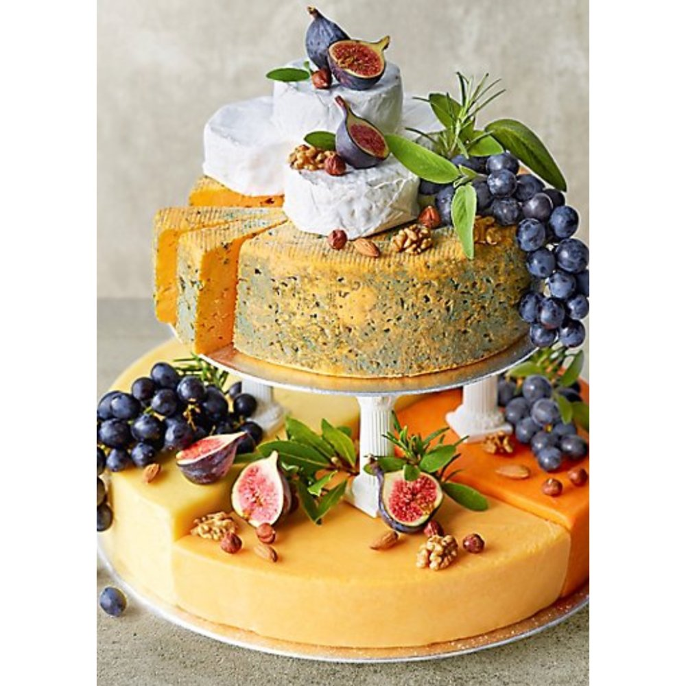 Cheese Celebration Cake - Why would you want a traditional birthday cake when you can have one make out of cheese?£:160Where: Marks and Spencer