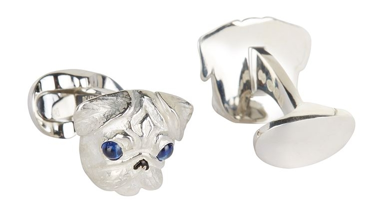Pug Head Cufflinks - The perfect accessary for your fancy shirt.£: 310.00Pick a pair up at: Harrods