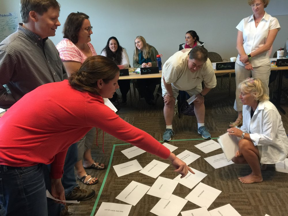 Youth Thrive training exercise in concrete supports, New Hampshire 2016.