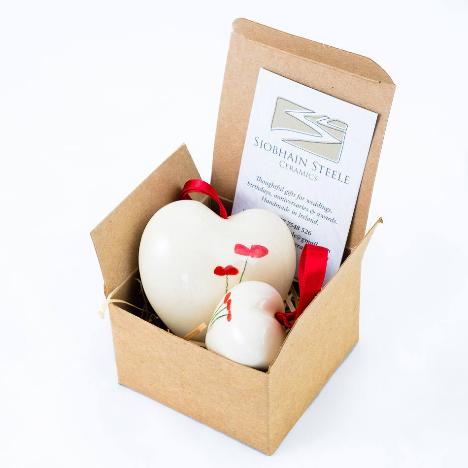 Ceramic Heart Gifts - Choose from our Poppy, Heart, and Allium's designs or customise your own for a more personalised gift.