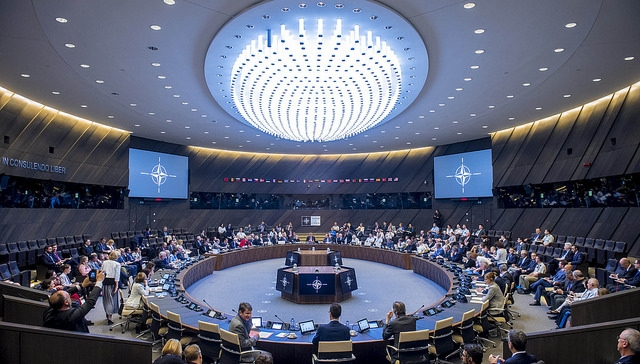 The first North Atlantic Council meeting at the new  NATO HQ in Brussels, May 9, 2018, featuring TELEVIC equipment. Banner photo above shows Televic equipment. Used with permission.