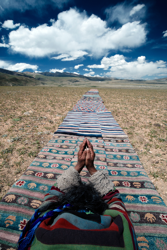 Nomad on Tibetan Rug Innerasia Rugs.jpg