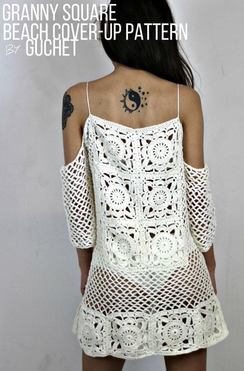 Crochet Swimsuit CoverUp Pattern Crochet Pattern By GuChet Gorgeous Crochet Swimsuit Cover Up Pattern