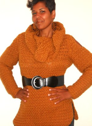 Oversized Cowlneck Tunic Crochet Pattern By Guchet