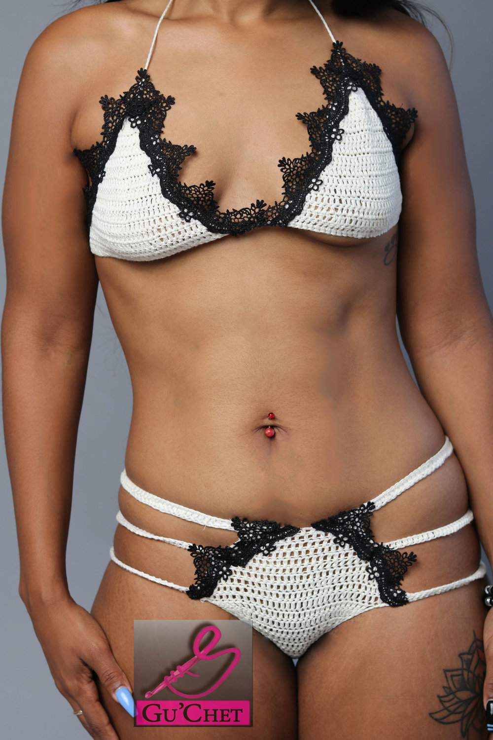 Crochet Lingerie Pattern by GuChet_Lace Trimmed Bra & Strappy Panties without tags 2.jpg