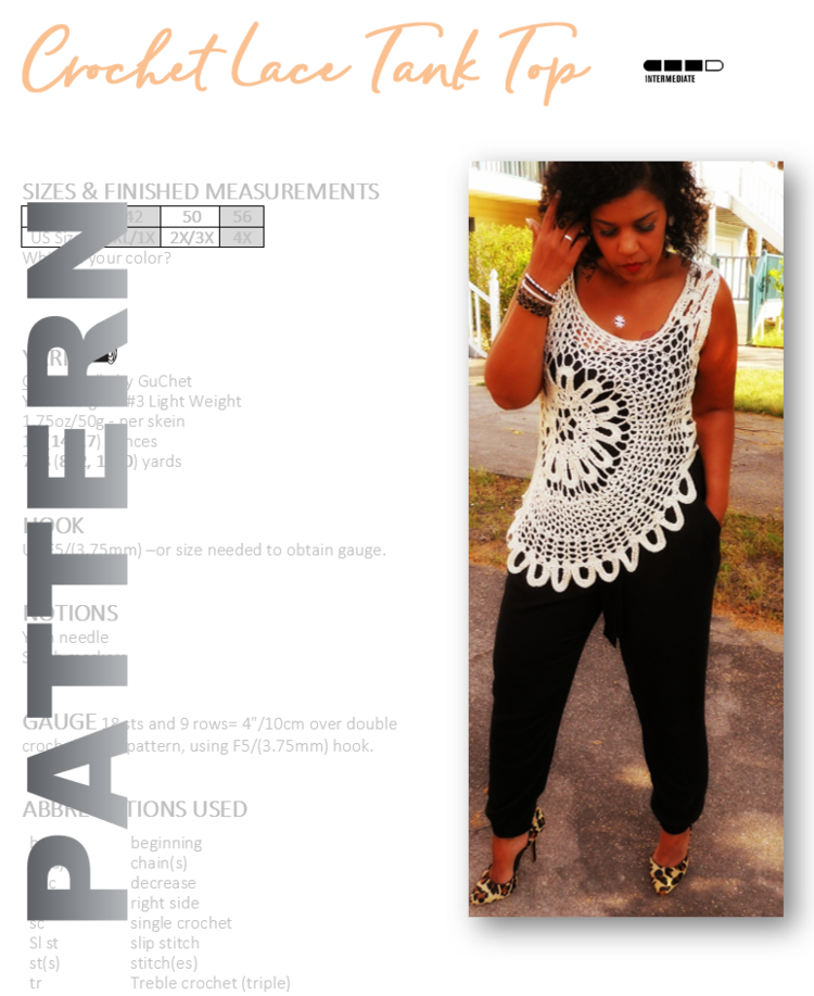Sleeveless Toptank Crochet Pattern By Guchet
