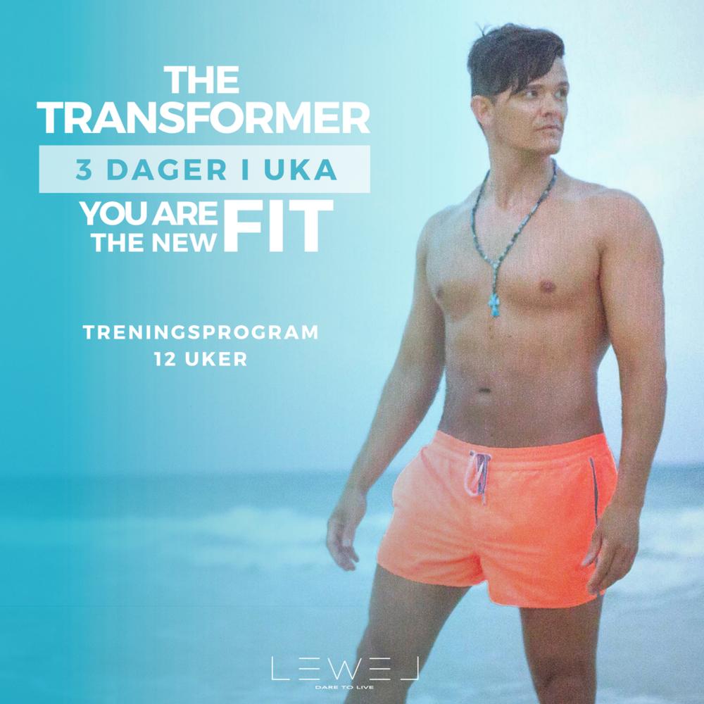 THE TRANSFORMER - YOU ARE THE NEW FIT! Øk i styrke, øk i muskelmasse - øk testosteron nivå! Du kan risikere å bli høy på deg selv....Programmet passer uansett nivå - såfremt at målet er å øke i styrke!