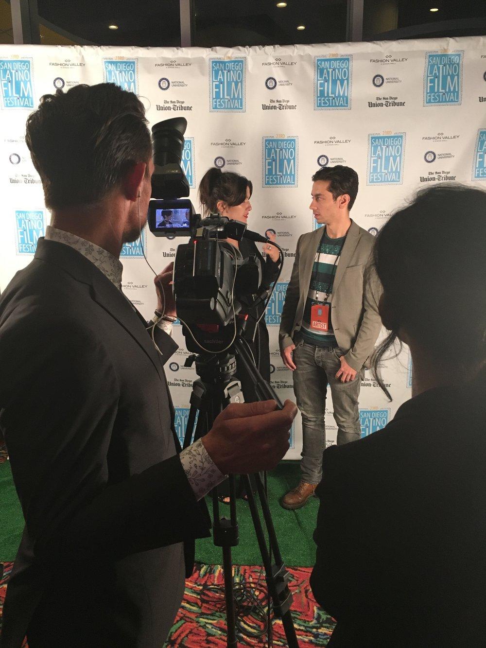 SDLFF red carpet interview andrew.JPG