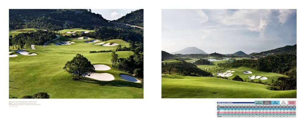 Sample Spread From The Great Golf Courses of China