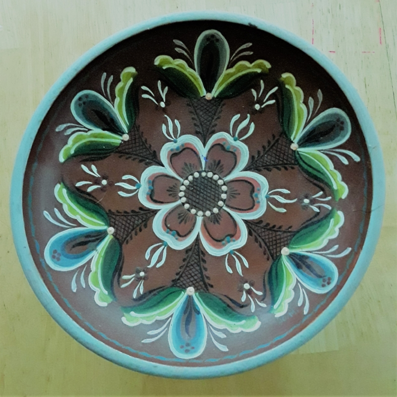 Examples of my Grandma Jo's Scandinavian Rosemaling - like a kind of Nordic Mandala.