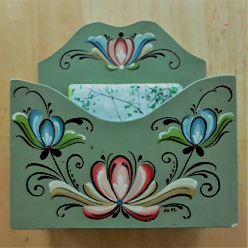 Rosemaling was traditionally done in the winter to pass the time until the warm season returned.